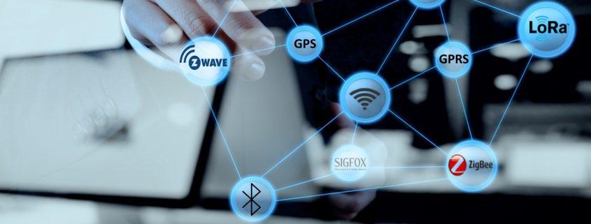 Illustration af Develcos udvikling af trådløs kommunikation